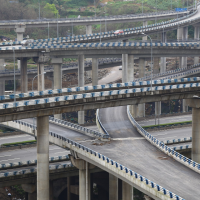 重庆建最任性立交桥 5层15条匝道规模庞大